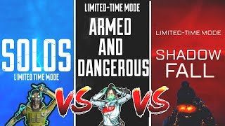 SOLOS vs ARMED and DANGEROUS Vs SHADOWFALL - NEW Apex Legends Funny & Epic Moments #154