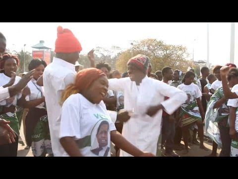 Zambians celebrate Lungu's re-election, while others cry foul