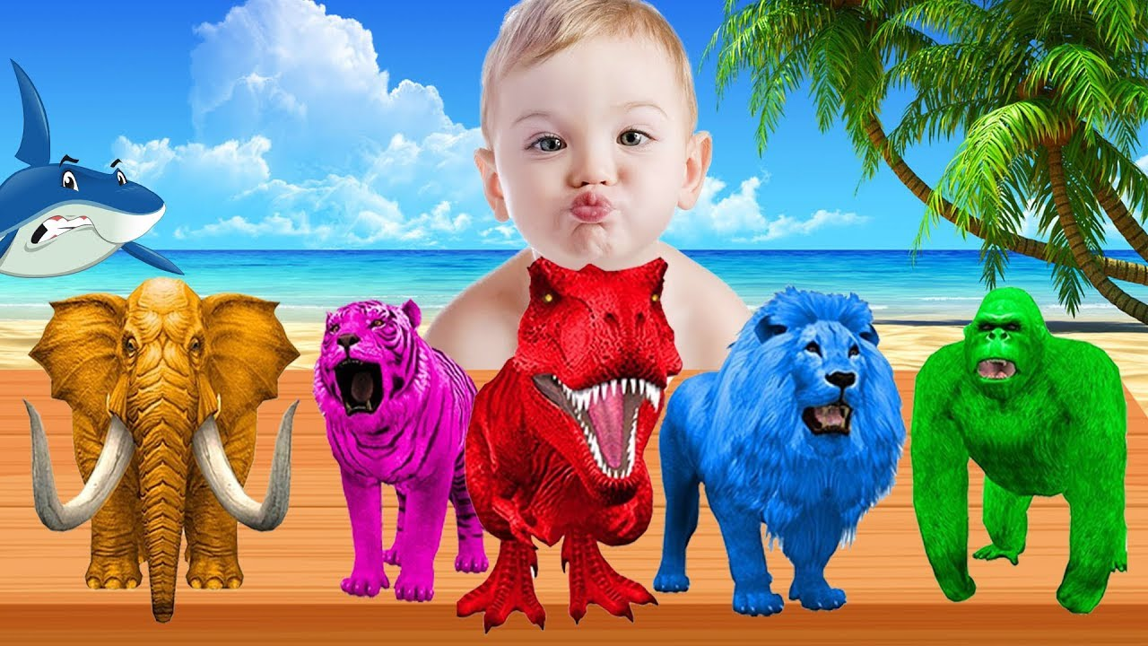 Learn Colors With Animals Colorful For Children Kids | Learning ...