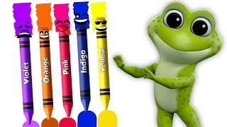 儿童英语歌谣 | 颜色名称 | 不同颜色的名字 | 给孩子们的蜡笔歌 | Crayons Colors Song | Learn Colors in Chinese