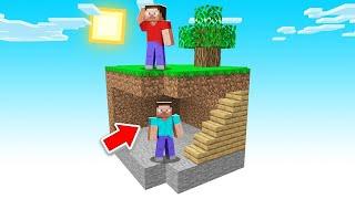 The BEST HIDING SPOT In Minecraft SKY BLOCK! (hilarious)