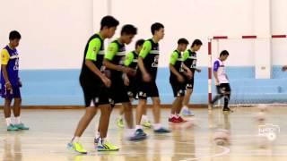 นักฟุตซอลทีมชาติไทยฝึกซ้อม