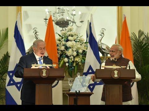 PM Modi & Israeli PM Benjamin Netanyahu at Joint Press Statement