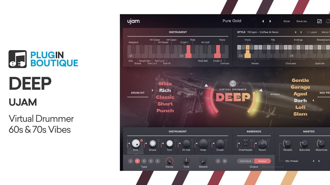 DEEP Virtual Drummer by UJAM | Overview & Audio Examples