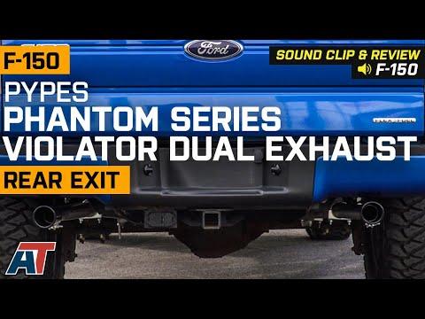 2011-2014 F150 5.0L Pypes Phantom Series Violator Dual Exhaust - Rear Exit Sound Clip & Review