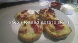 Bacon Loaded Potato Skins