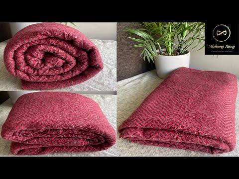 Red Chevron Cashmere Blanket Throw   Baby Blanket   Meditation Shawl   Alchemy Story #shorts