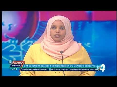 Télé Djibouti Chaine Youtube : JT Somali du 30/10/2017