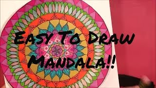 Tutorial: How To Draw A Simple Mandala - So Easy And Fun!