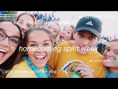 a week of school vlogs #spiritweek