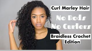 Curl Individual Crochet Marley Braids   Braid Out   (Part 2)