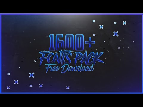Download 1600+ FREE FONTS PACK DOWNLOAD   GAMIX7 - YouTube