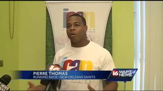 Pierre Thomas in Jackson for Who Dat Day