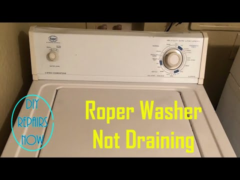 How to Repair Roper Washer Not Draining | Clogged Pump Part #WP3363394 | Model # RAX4232KQ0