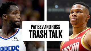 Russell Westbrook and Patrick Beverley Trash Talk From Benches   Rockets vs. Clippers