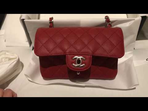 c9805871af2a Chanel Red Mini Flap Unboxing - Cruise Collection 2018, Download or ...