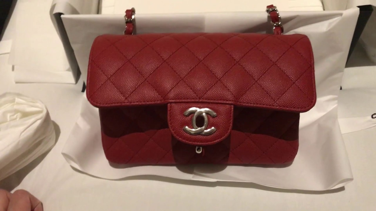 1ab5a88a1cc7 Chanel Red Mini Flap Unboxing - Cruise Collection 2018 - YouTube