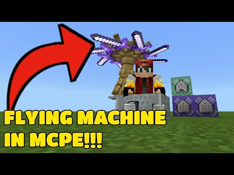HOW TO MAKE REDSTONE FLYING MACHINE IN MCPE - Myhiton