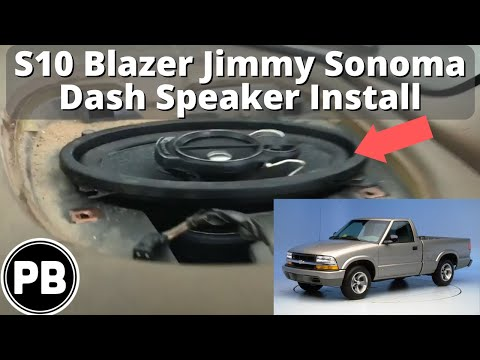 1998  2004 Chevy S10 Blazer Jimmy Sonoma Dash Speaker Install