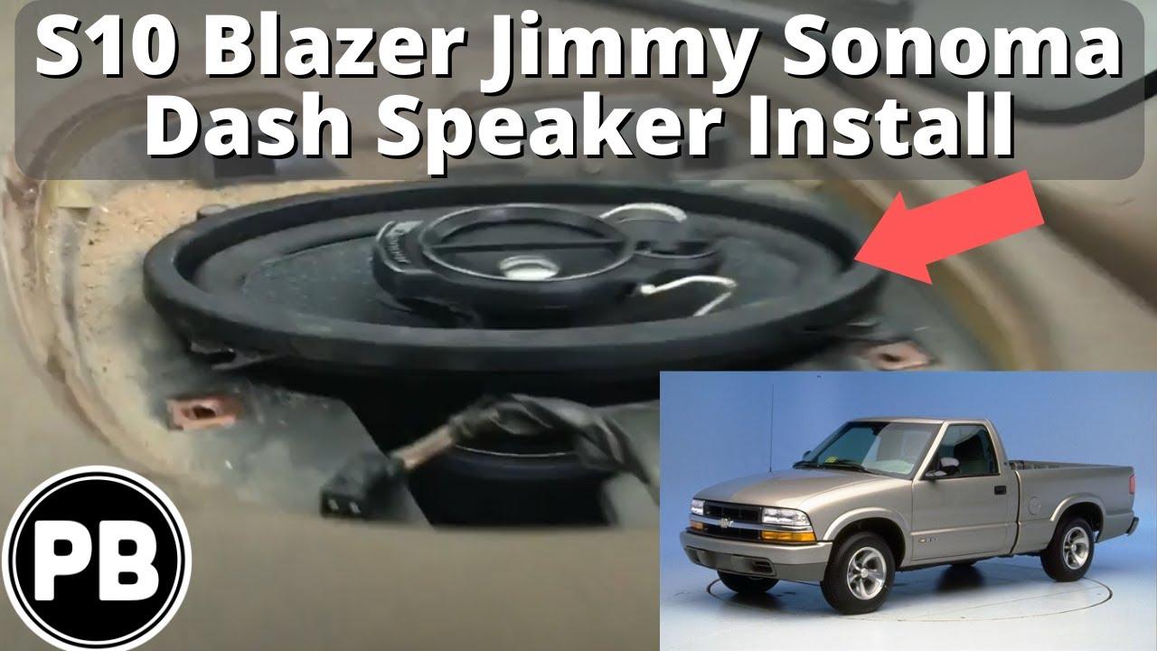 1999 S10 Stereo Wiring Diagram Twisted Tele Neck Pickup 1998 2004 Chevy Blazer Jimmy Sonoma Dash Speaker Install Youtube