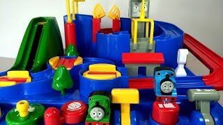 Thomas and Friends International Play Set with Percy, Harold, Cranky thumbnail