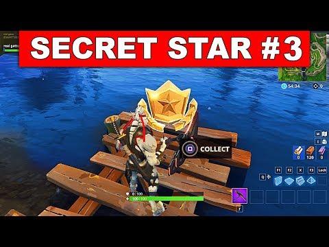 SECRET BATTLE STAR WEEK 3 SEASON 6 LOCATION! - Fortnite Battle Royale (Hunting Party Challenges)