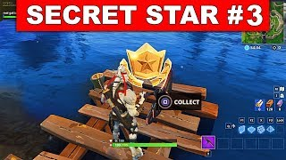 SECRET BATTLE STAR WEEK 3 SEASON 6 LOCATION! - Fortnite Battle Royale (Hunting Party Challenges)