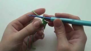 Вязание крючком для начинающих - Урок3 Ст.б.нак.