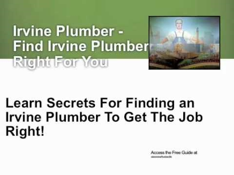 Irvine Plumber - Avoid Getting Ripped Off