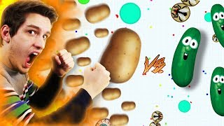 Potato vs Agar.io Cucumbers ( INSANE )