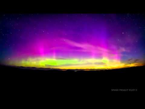 Northern Lights captured in timelapse film in Caithness.