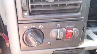Как отключить в VW Т4 дневной скандинавский свет?