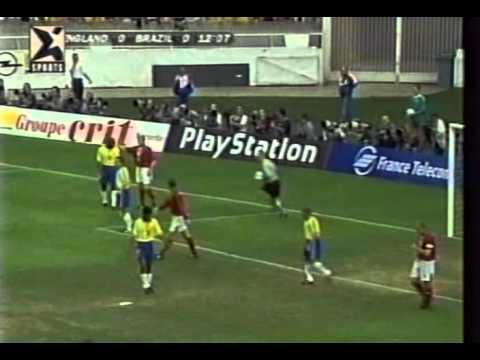 9aae584a0a ENGLAND 0-1 BRAZIL 1997 first half - YouTube
