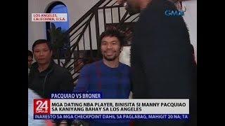 Mga dating NBA player, binisita si Manny Pacquiao sa kaniyang bahay sa Los Angeles