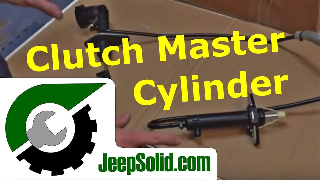 jeep clutch master cylinder and slave cylinder replacement jeep wrangler yj [ 1280 x 720 Pixel ]