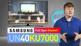 SAMSUNG UN40KU7000 (KU7000) 4K UHD TV // Is This The Best TV for You?
