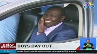 Boys day out: DP William Ruto, chauffeured by son without security detail
