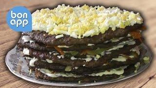 Торт из печени(Привет! Предлагаю Вам на пробу рецепт приготовления печеночного торта. В приготовлении он несложный но..., 2013-05-14T17:31:25.000Z)