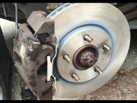 replace grand caravan/town & country front brakes - pads and rotors ...