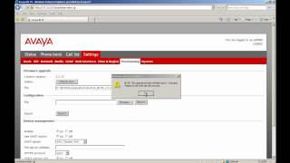 How to Upgrade the Firmware on a Single Avaya B179 Conference Phone