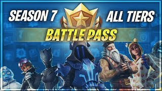 FORTNITE SEASON 7 ALL TIERS BATTLE PASS SKINS