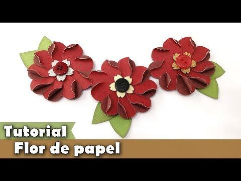 Como fazer flor de papel | PAP | Tutorial