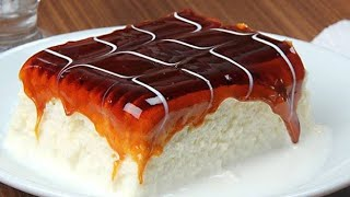 Milky Caramel Cake | Karamelli Trileçe Tarifi | Tirilece Pastry Cake | Eggless & Without Oven