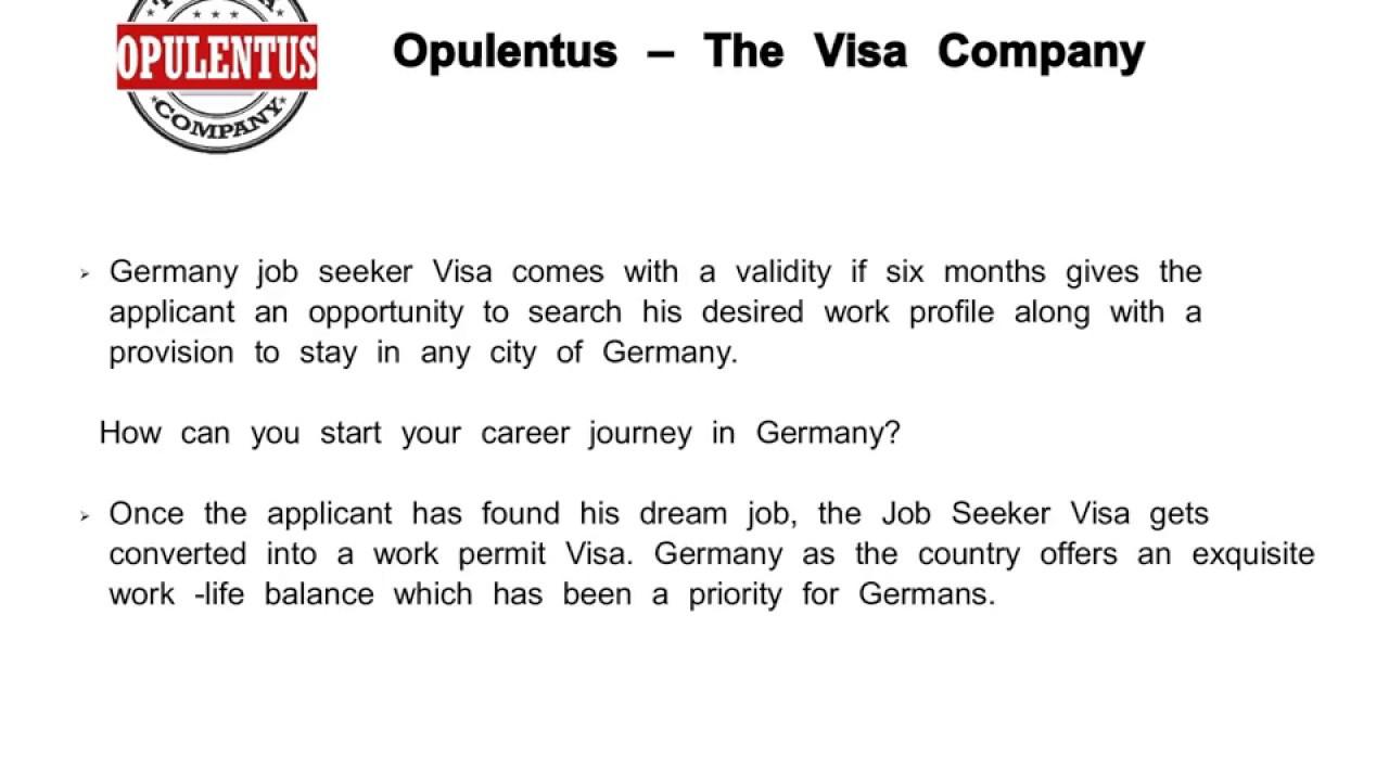 How to avail germany job seeker visa youtube how to avail germany job seeker visa falaconquin