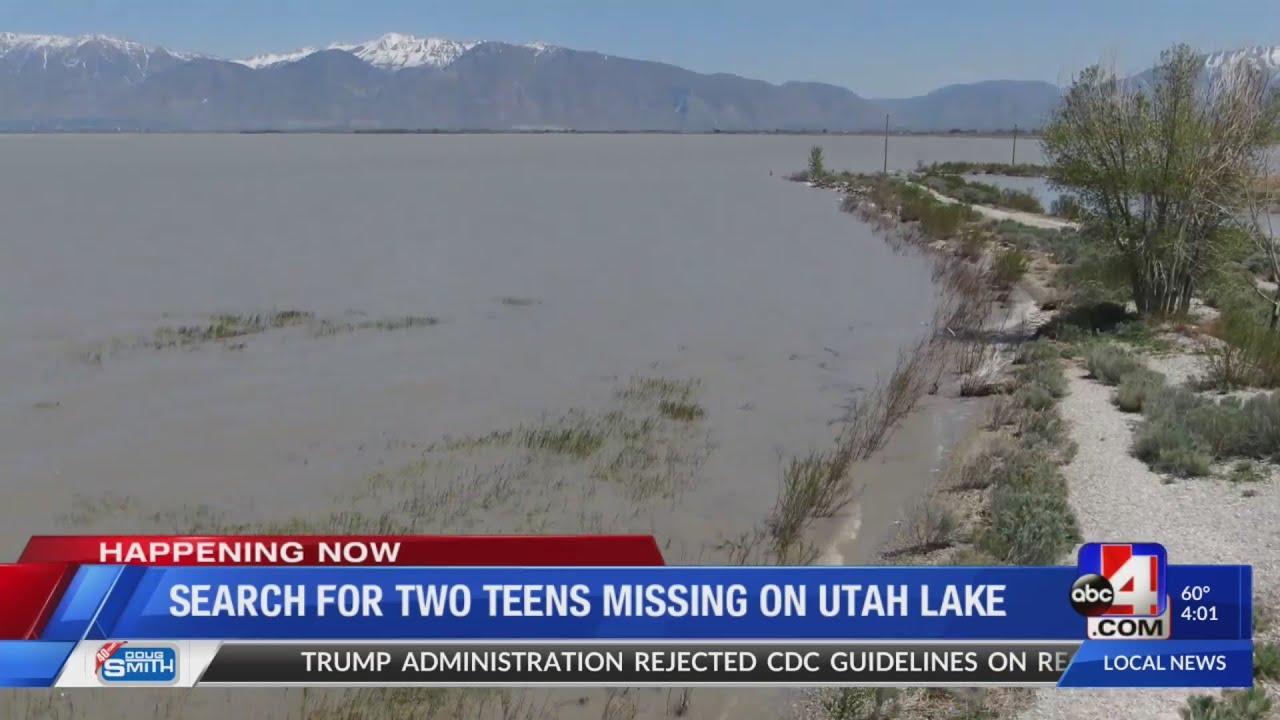 Utah Lake: Search for two teens missing on Utah Lake