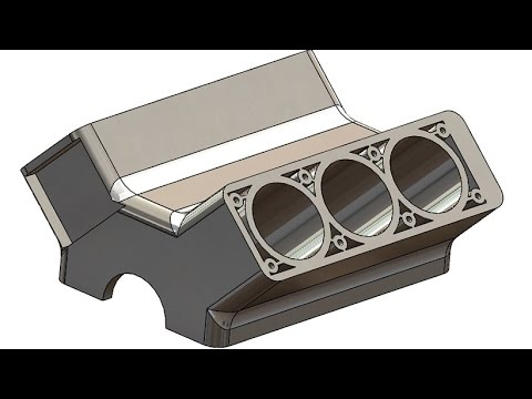 Solidworks Tutorial 200 Car Engine Block Youtube