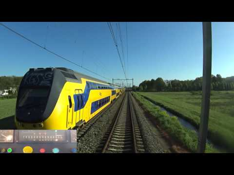 A train driver's view: Haarlem - Den Haag CS, SGM, 08-May-2017.