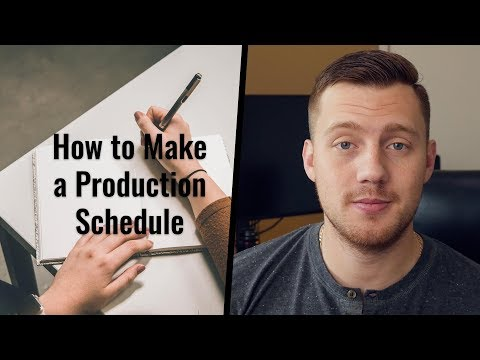 Free Production Schedule Template! What is a Production Schedule?