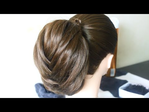 Fancy Fishtail Braid Updo تسريحة شعر سهلة و جميلة للعروس/Coiffure facile