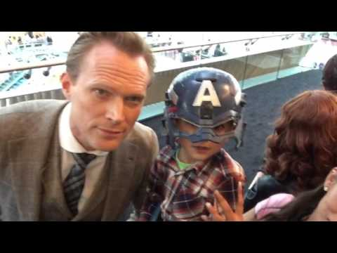 My son at the avengers age of ultron european premier london